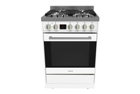 Parmco 60cm Freestanding Stove, Stainless Steel/ White Combination