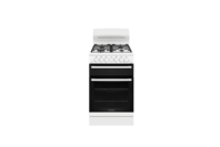 Westinghouse 54cm White Gas Freestanding Cooker with 4 Burner Gas Cooktop