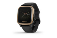 Garmin Venu Sq - Music Edition, Rose Gold Aluminum Bezel With Black Case And Silicone Band