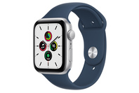 Apple Watch SE GPS + Cellular, 44mm Silver Case With Abyss Blue Sport Band