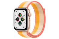 Apple Watch SE GPS + Cellular, 44mm Gold  Case With Maize/White Sport Loop