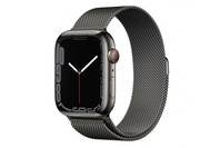 Apple Watch Series 7 GPS + Cellular 45mm Graphite Stainless Steel Case Graphite Milanese Loop